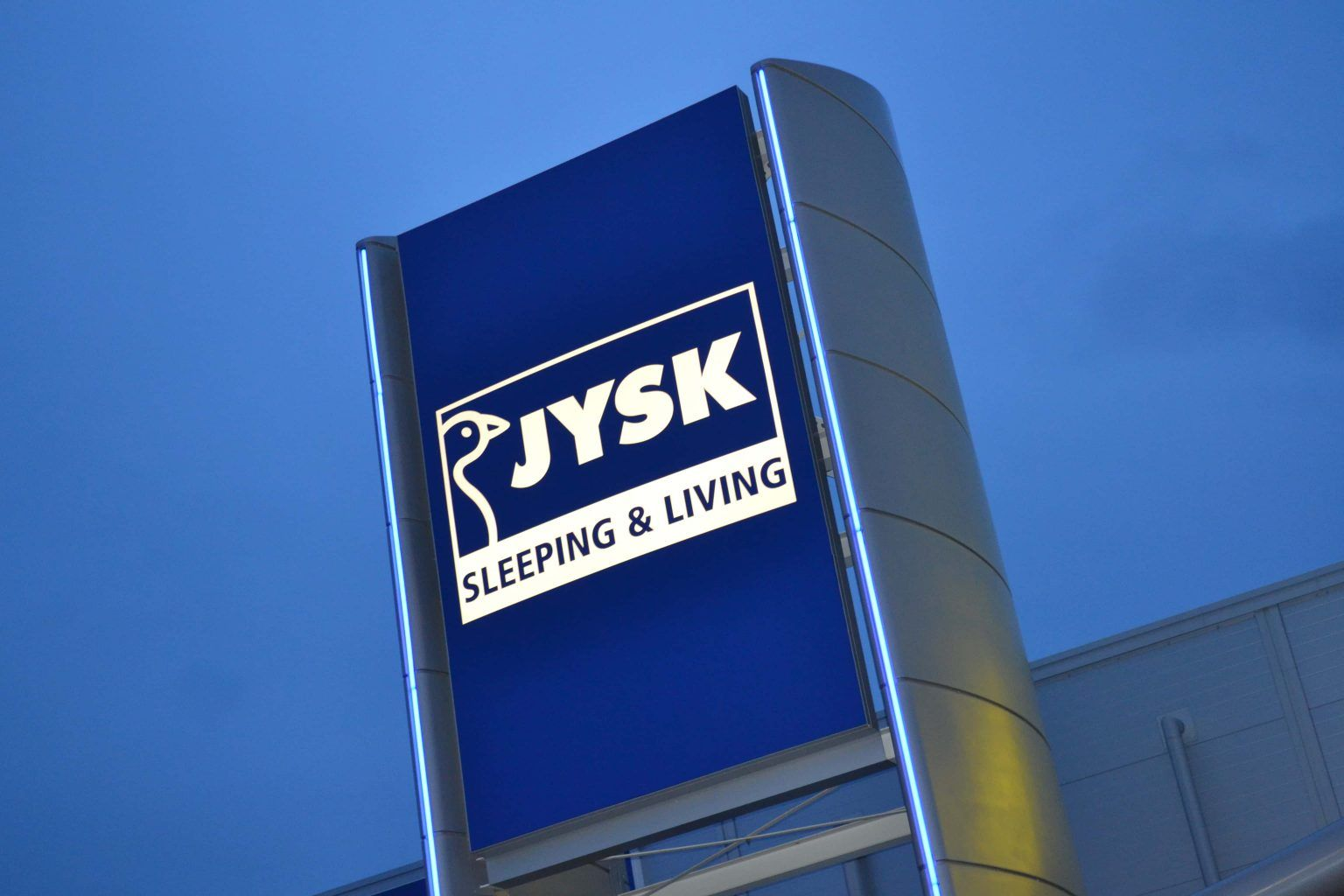 jysk flexface illuminated signage