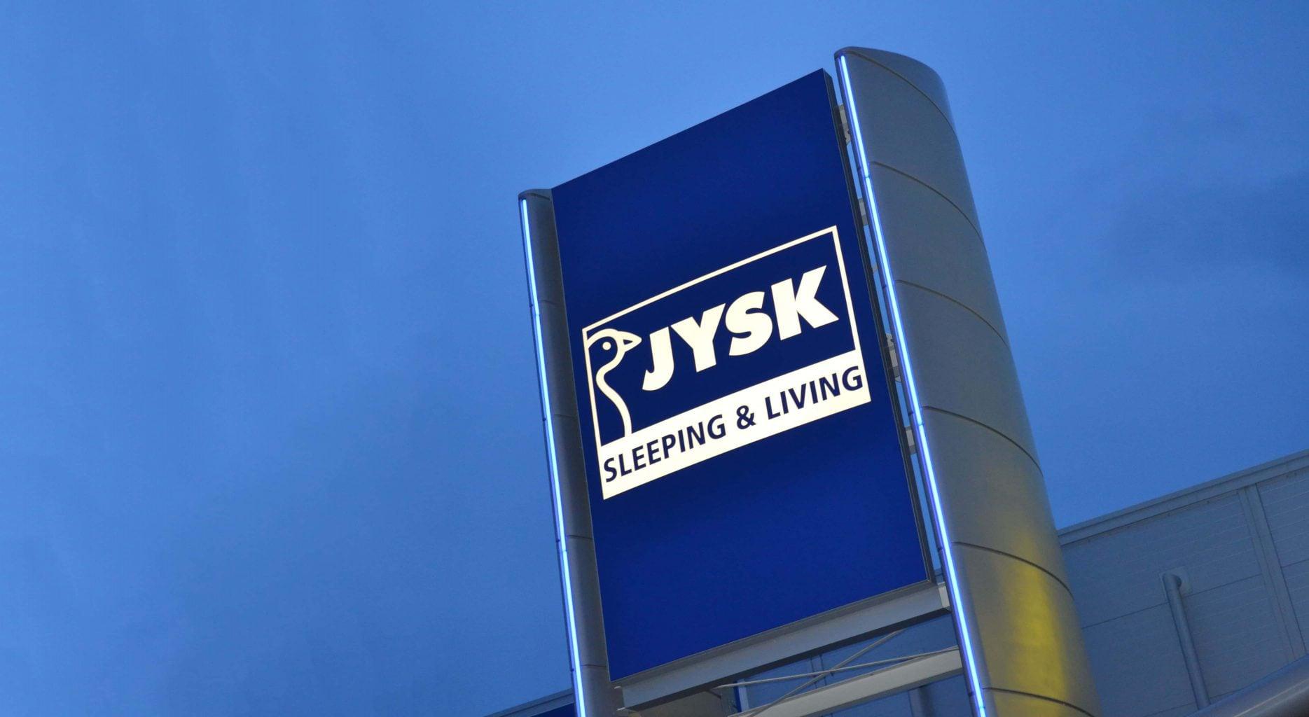 jysk flexface illuminated signage