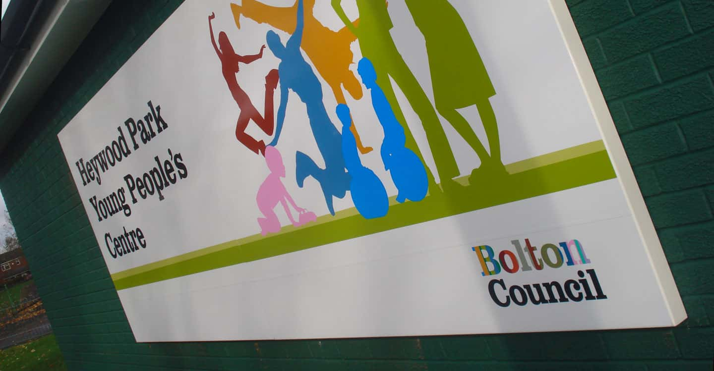 Local Government Signs - Heywood Park Young Peoples Centre
