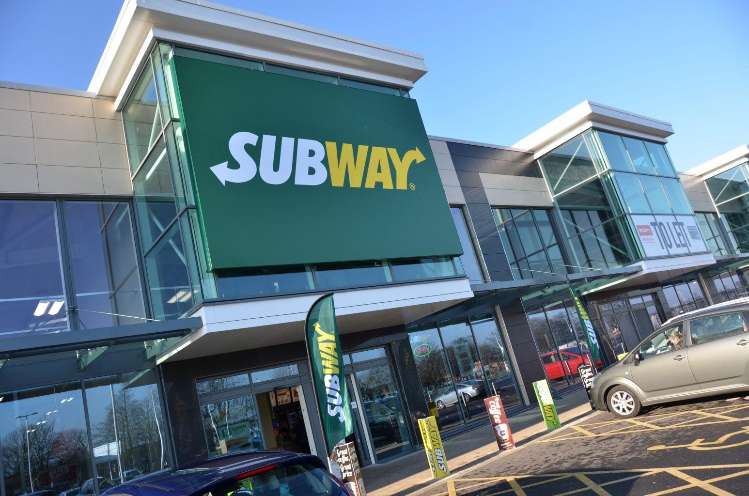 Subway Warrington Flexface Signage