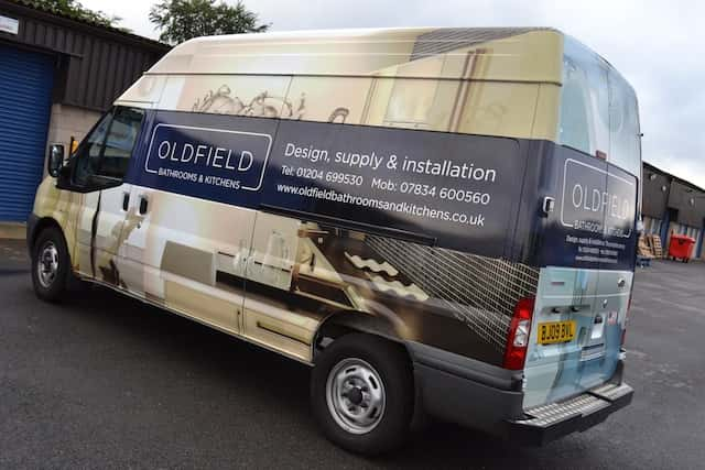 Vehicle Graphics-oldfield-bathroom-and-kitchens